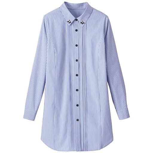 【SALE】 【レディース大きいサイズ】 ビジュー付きロングシャツの通販