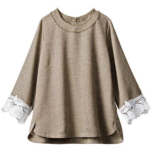 【SALE】 【レディース】 ツイードブラウス(七分袖)の通販