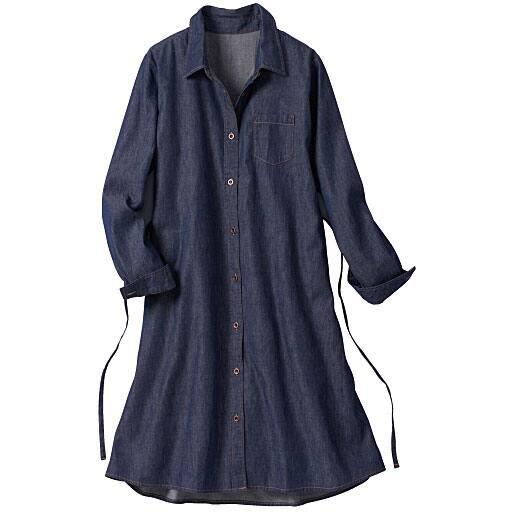 【レディース大きいサイズ】 ロングシャツ(綿100%) – セシール