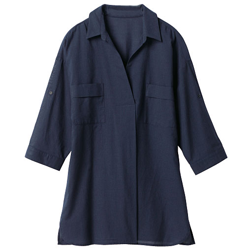 【SALE】 【レディース】 オーバーシャツチュニック(7分袖)の通販