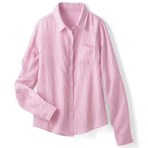 【レディース】 テンセル混リネンレギュラーシャツの通販