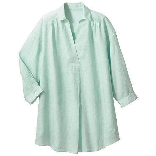 【レディース】 テンセル混リネンスキッパーシャツ(接触冷感)の通販