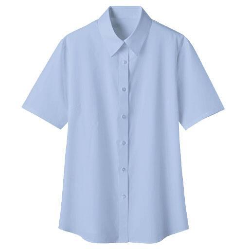 【レディース】 形態安定レギュラーカラーシャツ(半袖)(UVカット 抗菌防臭)の通販