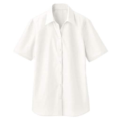 【レディース】 形態安定ベルカラーシャツ(半袖)(UVカット 抗菌防臭)の通販