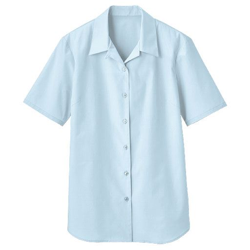 【レディース】 形態安定ハマカラーシャツ(半袖)(UVカット 抗菌防臭)の通販