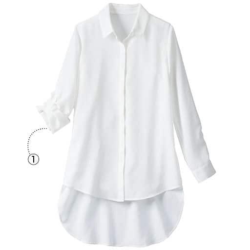 【SALE】 【レディース大きいサイズ】 イレギュラーヘムビッグシャツの通販