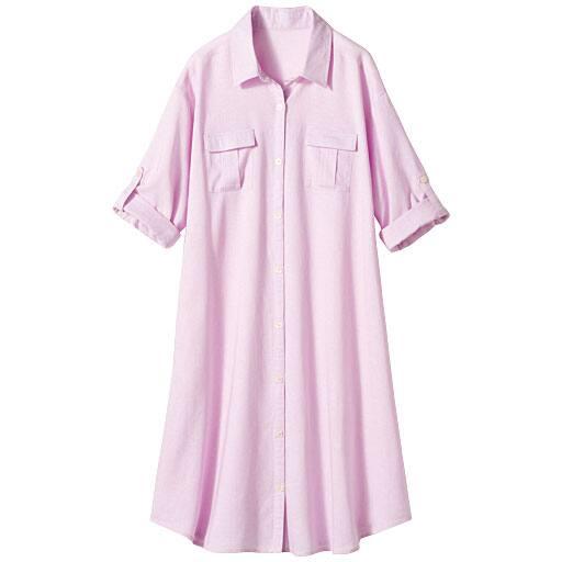 【SALE】 【レディース】 ロングシャツ(7分袖)
