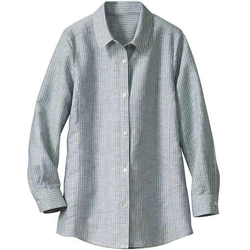 【SALE】 【レディース】 ふわさらコットンリネンシャツ
