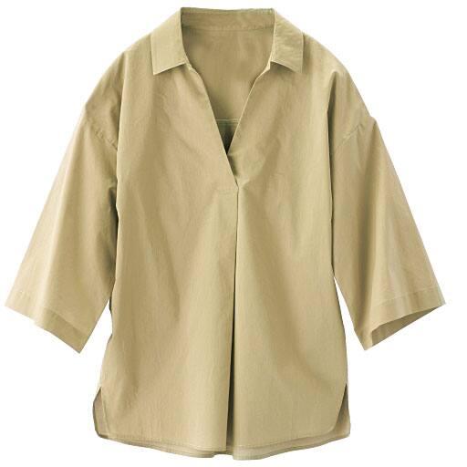 【SALE】 【レディース】 クイーンコット スキッパー5分袖シャツの通販