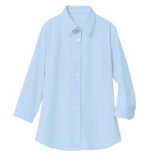 【レディース】 形態安定レギュラーシャツ(7分袖)(UVカット・抗菌防臭)