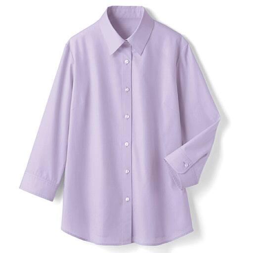 【レディース】 形態安定レギュラーシャツ(7分袖)(UVカット・抗菌防臭)の通販
