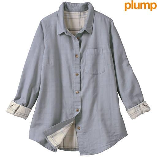【SALE】 【レディース大きいサイズ】 ダブルガーゼシャツの通販