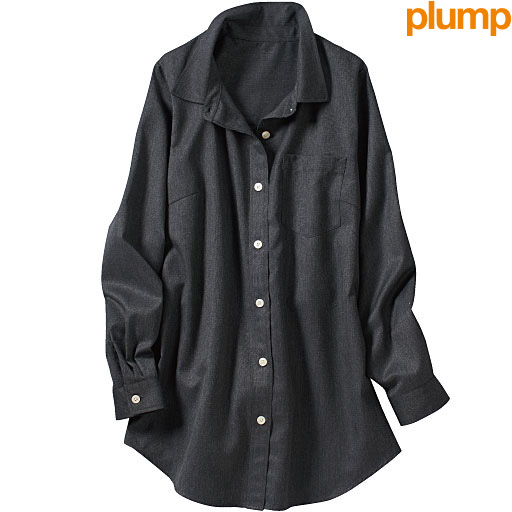 【レディース大きいサイズ】 レギュラーシャツ