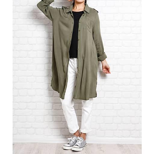 【SALE】 【レディース】 2点セット(ロングシャツ+半袖Tシャツ)の通販