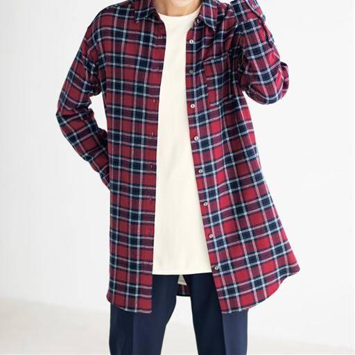 【SALE】 【レディース】 チュニックシャツ(綿100%)の通販