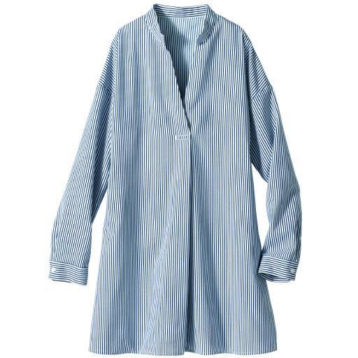 【SALE】 【レディース】 ストライプ柄チュニックシャツの通販
