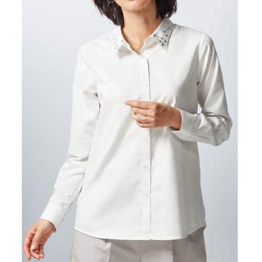 【SALE】 【レディース】 ビジュー使いシャツの通販