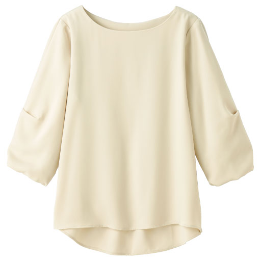 【SALE】 【レディース】 大人上品な袖タックブラウスの通販