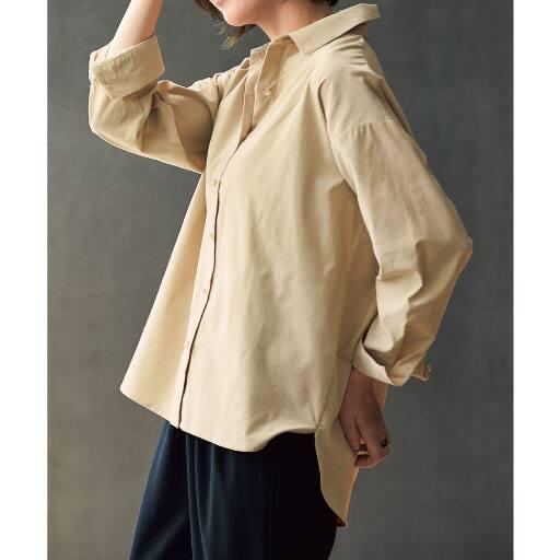 【SALE】 【レディース】 コーデュロイゆるシルエットシャツ(綿100%)の通販