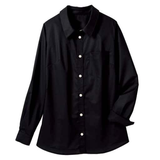 【レディース大きいサイズ】 形態安定レギュラーシャツ(抗菌防臭・UVカット・胸元隠しボタン仕様)の通販