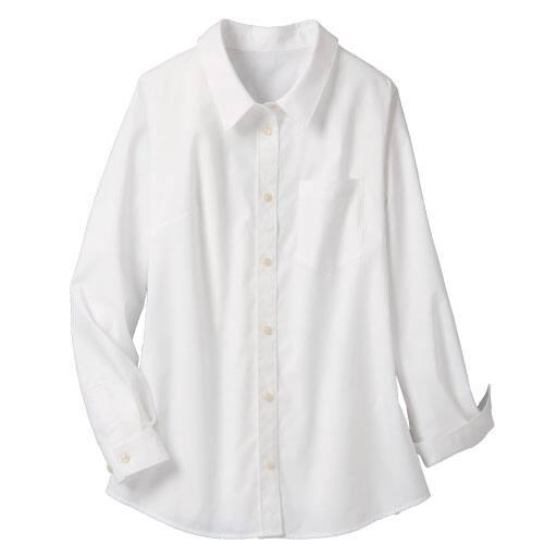 【レディース大きいサイズ】 形態安定レギュラーシャツ(抗菌防臭・UVカット) – セシール