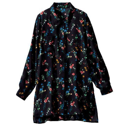【レディース大きいサイズ】 花柄オーバーシャツ – セシール