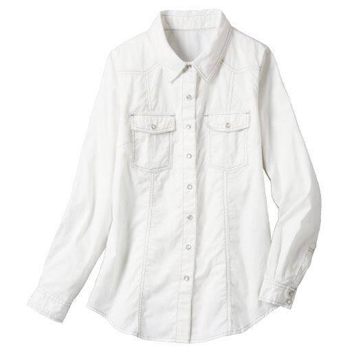 【レディース大きいサイズ】 ベーシックシャツ(綿100%)