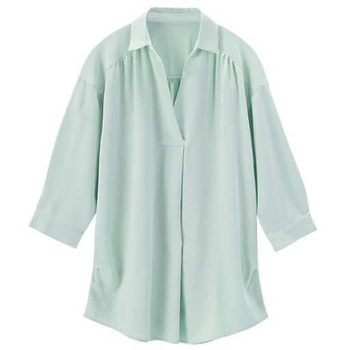 【レディース】 抜き衿ブラウスシャツの通販