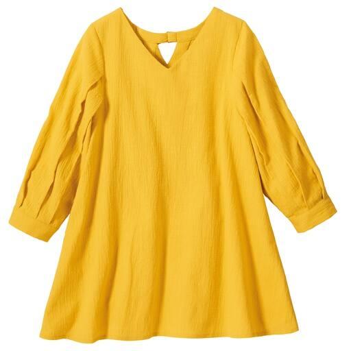 【レディース大きいサイズ】 春色バックデザインブラウス(綿100%)の通販