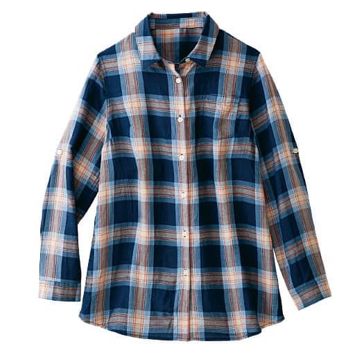 【レディース】 テンセル繊維混 レギュラーシャツ(接触冷感)の通販