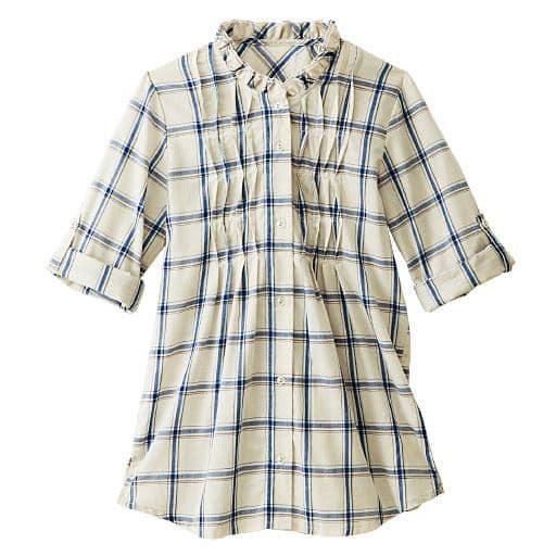 【レディース】 UV対策フリルネックシャツの通販