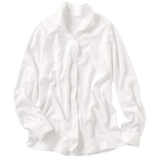 【レディース】 スマートドライ衿付きスキッパーシャツ(吸汗速乾・接触冷感・UVカット・抗菌防臭・形態安定)の通販