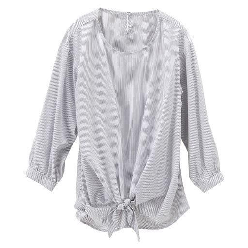【レディース】 スマートドライ前リボンプルオーバー(7分袖)(吸汗速乾・接触冷感・UVカット・抗菌防臭・形態安定)の通販
