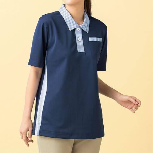 KAZEN/脇ポケット付ポロシャツ(男女兼用)の通販