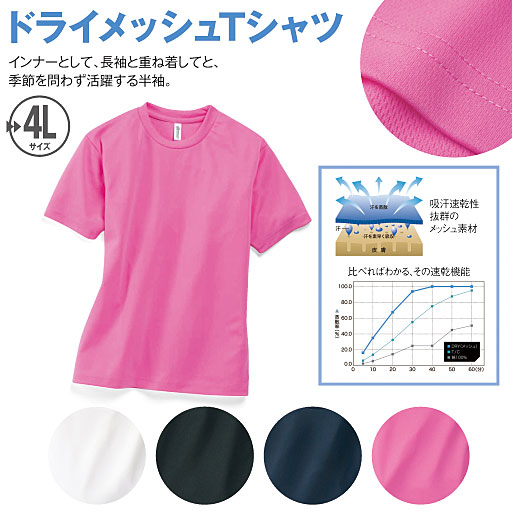 【SALE】 【レディース】 ドライメッシュTシャツ(半袖) – セシール