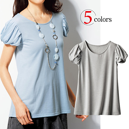 【SALE】 【レディース】 デザイン袖Tシャツの通販