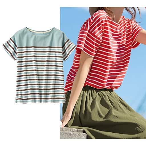 【レディース】 ゆったりボートネックTシャツの通販