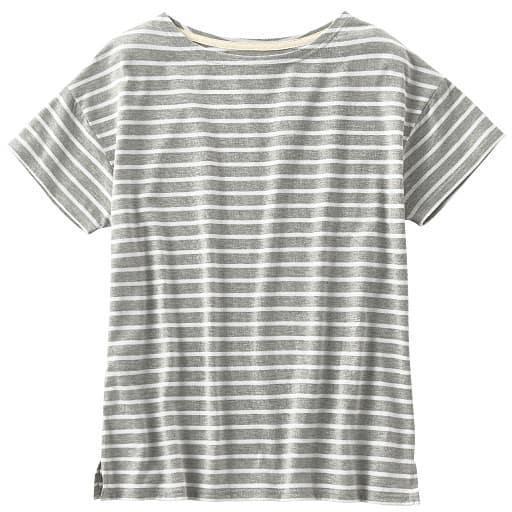 【SALE】 【レディース】 ゆったりボートネックTシャツの通販