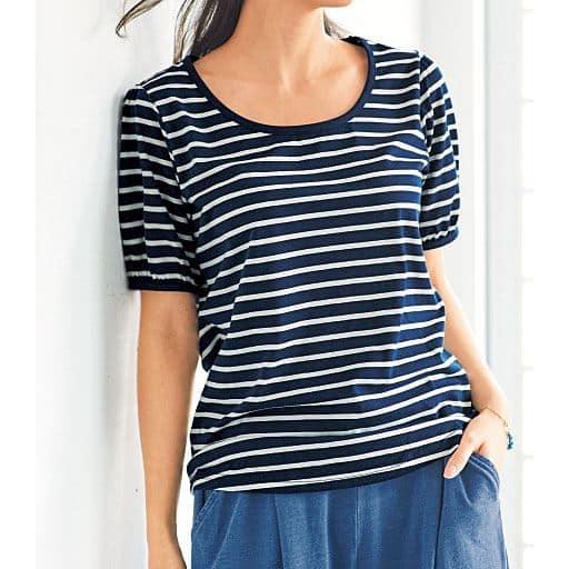【SALE】 【レディース大きいサイズ】 パフスリーブTシャツの通販