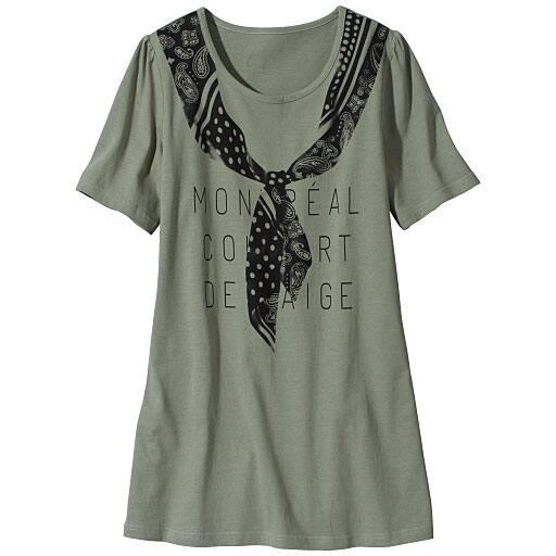 【SALE】 【レディース大きいサイズ】 ロング丈Tシャツの通販