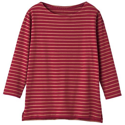 【SALE】 【レディース】 ボートネックボーダーTシャツ(7分袖)の通販