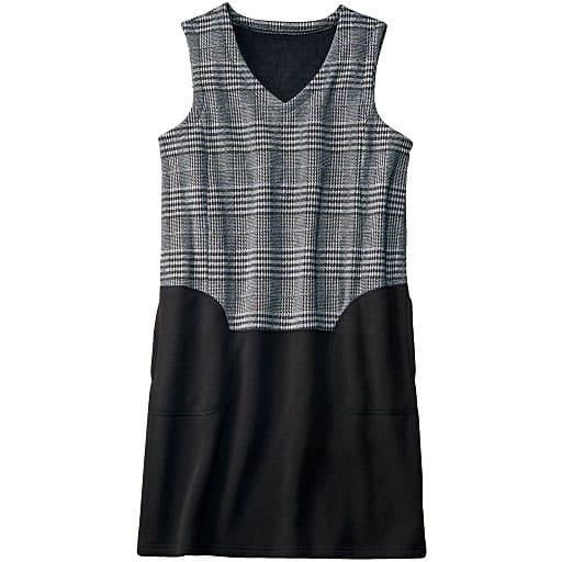 【SALE】 【レディース】 裏シャギー配色切替えサックドレスの通販