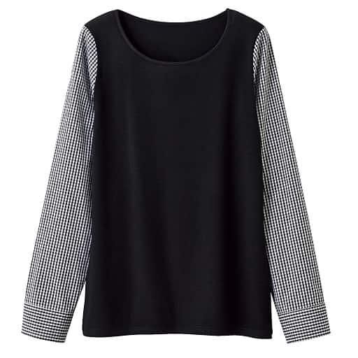 【SALE】 【レディース】 異素材使いTシャツの通販