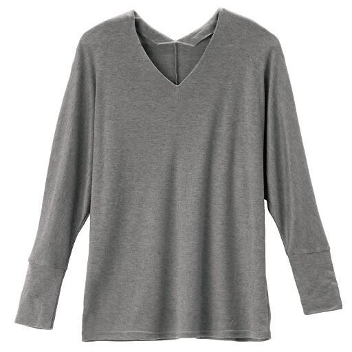 【SALE】 【レディース】 ウール混VネックドルマンTシャツの通販