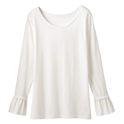 【SALE】 【レディース】 袖口ラッフル付きTシャツの通販