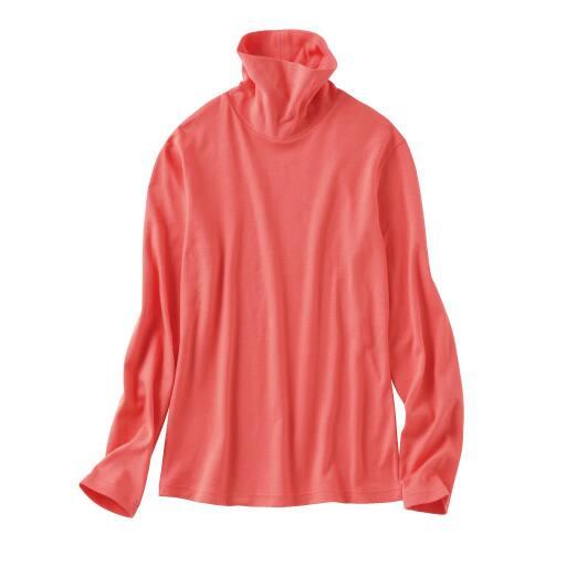 【SALE】 【レディース】 裏起毛ルーズネックTシャツ(M-5L・綿100%)の通販