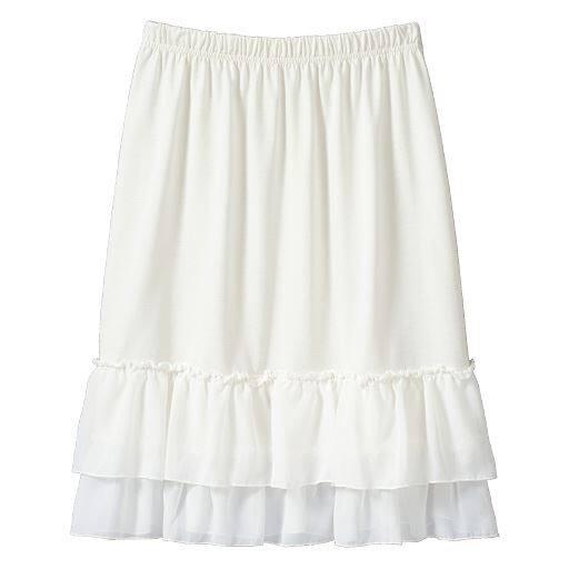 【レディース大きいサイズ】 裾デザインペチスカート – セシール