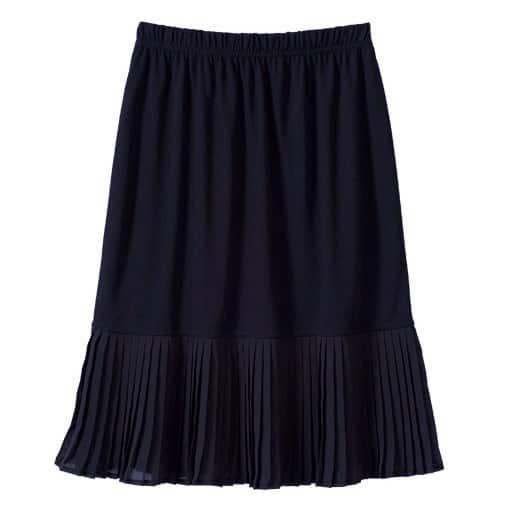【レディース大きいサイズ】 裾デザインペチスカート