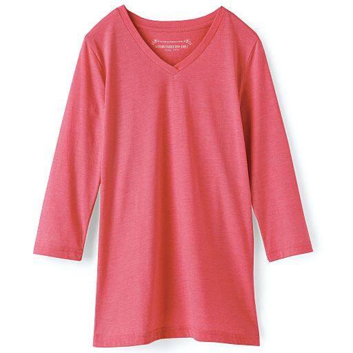 【レディース】 シンプルVネックTシャツ(七分袖)の通販