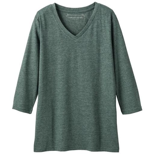 30%OFF【レディース】 シンプルVネックTシャツ(七分袖)